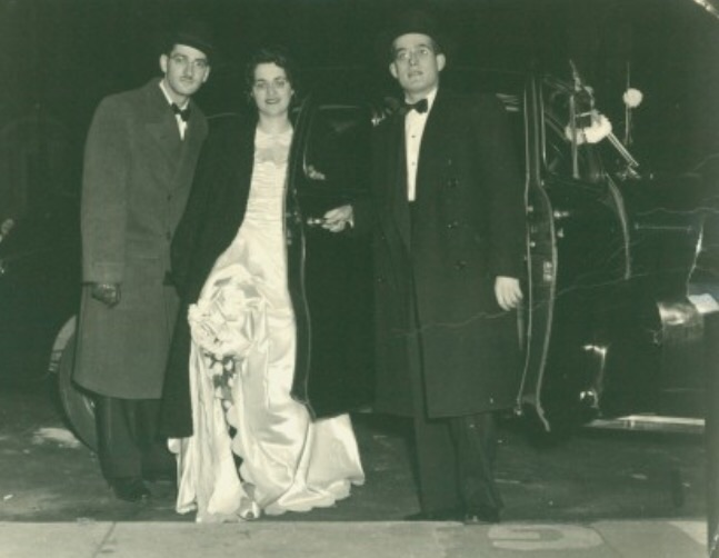 "Daddy A""H aunt Bella and uncle Rhiner A""H at their wedding"
