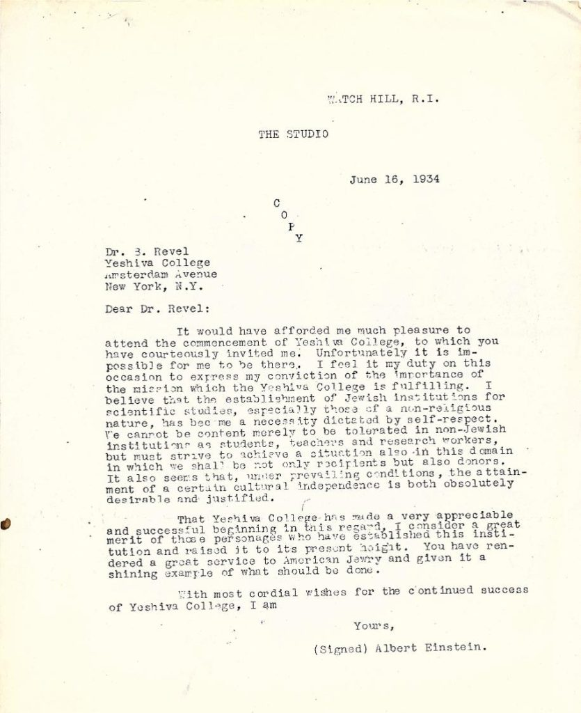 Einstein Letter to Revel